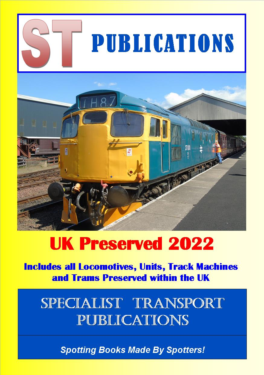 Cover of UK Preserved Locos, Units, Track Machines and Trams 2019
