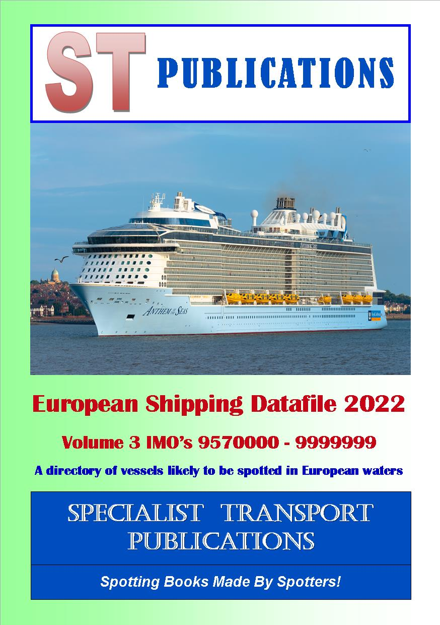 Cover of European Shipping Fleet 2018 Volume 3 (IMO's 9460000 - 9839999)